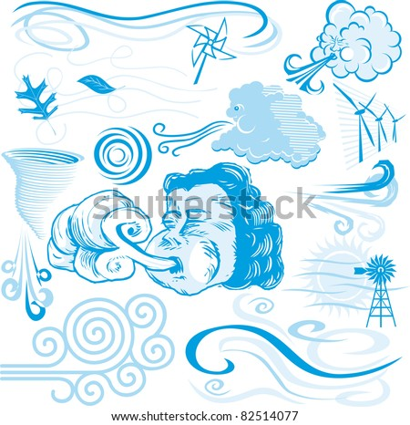 Wind Collection - stock vector