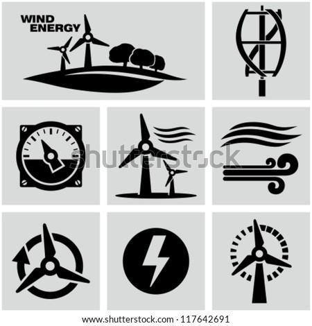 Wind energy - stock vector