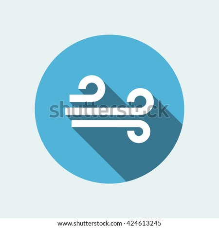 wind icon. flat wind icon. wind vector - stock vector