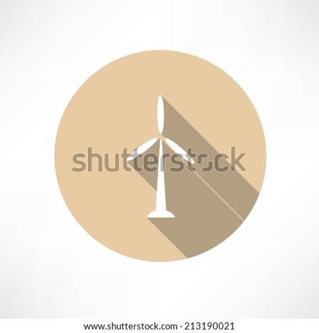 Wind Power Plant Icon - stock vector