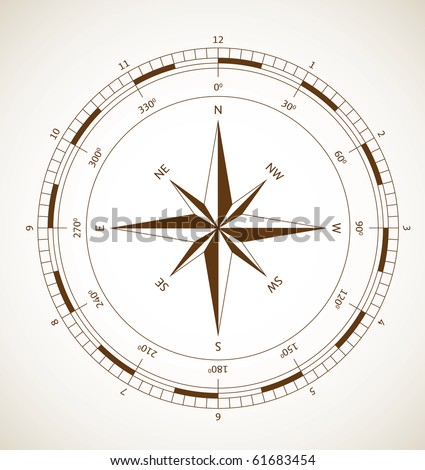 Wind rose - stock vector