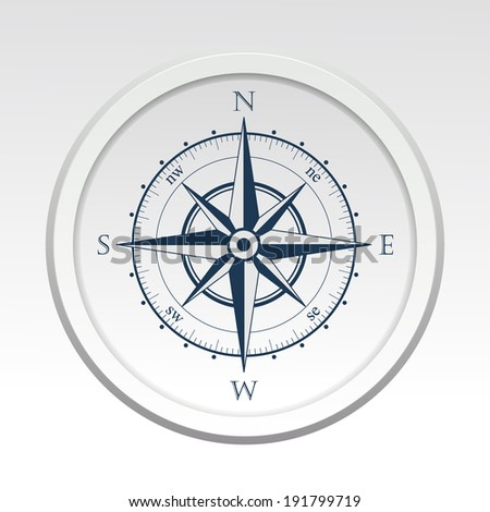 Wind rose compass vector symbol - stock vector