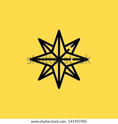 wind rose icon illustration isolated vector sign symbol