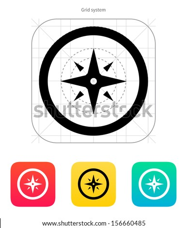 Wind rose icon. Vector illustration. - stock vector