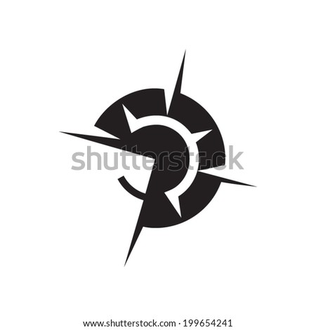 Wind rose sign Branding Identity Corporate vector logo design template Isolated on a white background - stock vector