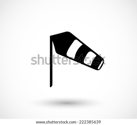 Wind sock icon vector - stock vector