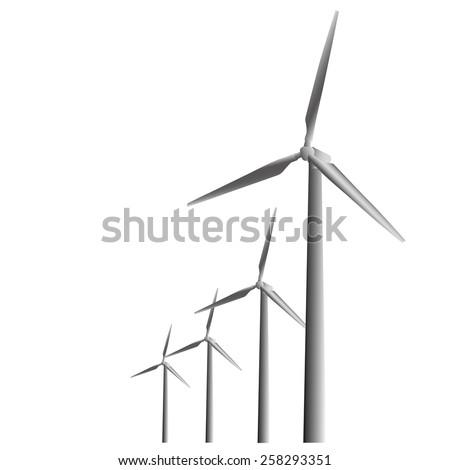 Wind turbine Ecologically - stock vector