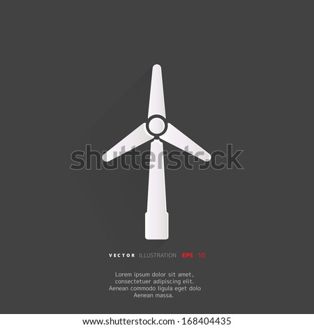 wind turbine icon, eco concept - stock vector