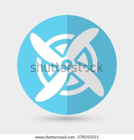 Wind Turbine, vectorind Turbine, vector - stock vector