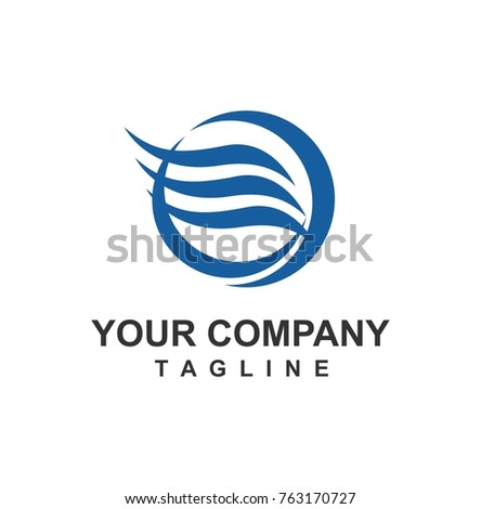 Wind Water Blue Logo Stock Vector 763170727 Shutterstock