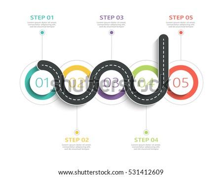 Modern 3d Infographic Template 5 Steps Stock Vector 535402474 ...