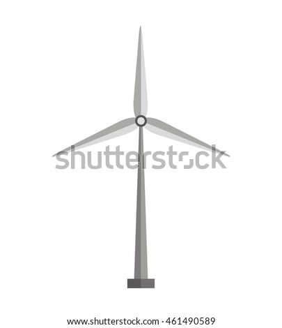 windmill energy air icon vector isolated graphic