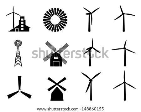 windmill icon - stock vector