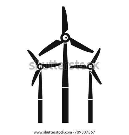windmill icon simple illustration windmill vector stock vector rh shutterstock com windmill vector download windmill vector image