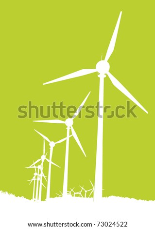 windmills - stock vector