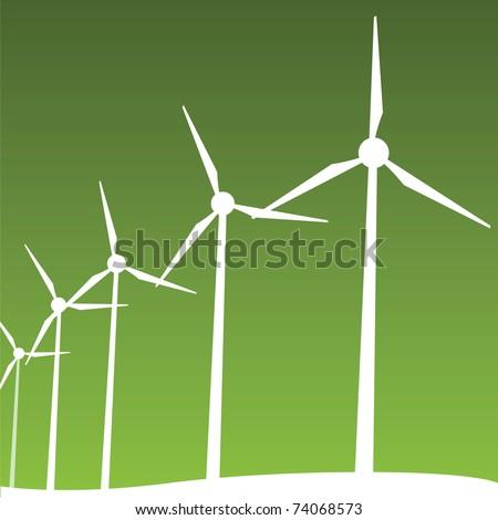 windmills - stock vector