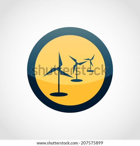 Windmills Icon Isolated on White Background - stock vector