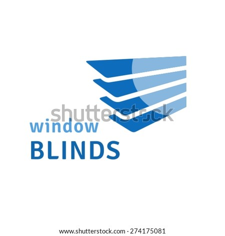 Window blinds logo - stock vector