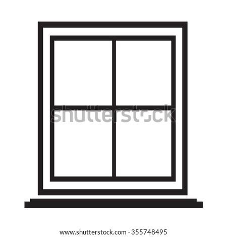 window icon Illustration symbol design - stock vector