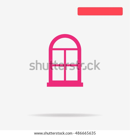Window icon. Vector concept illustration for design.