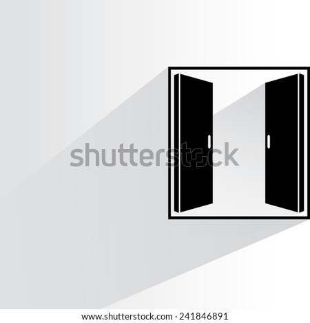window on white background, flat and shadow theme - stock vector