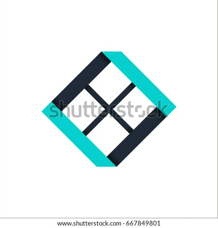 Window vector logo on white background