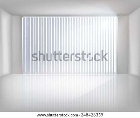 Window with blinds. Vector illustration. - stock vector