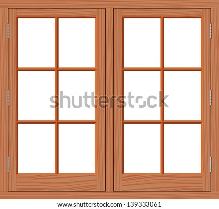 Window wood - stock vector