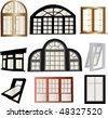 windows collection - vector - stock vector