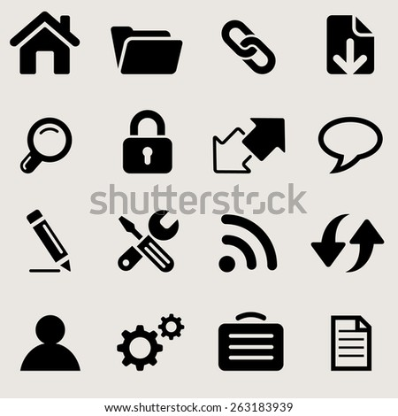 windows icons set great for any use. Vector EPS10. - stock vector
