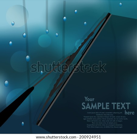 Windshield wiper - stock vector