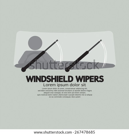 Windshield Wipers Car's Parts Vector Illustration - stock vector