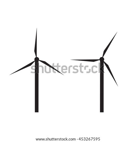 windturbine icon for electric power production.