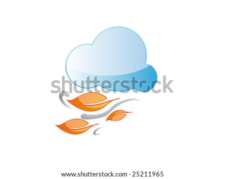 windy cloud - stock vector