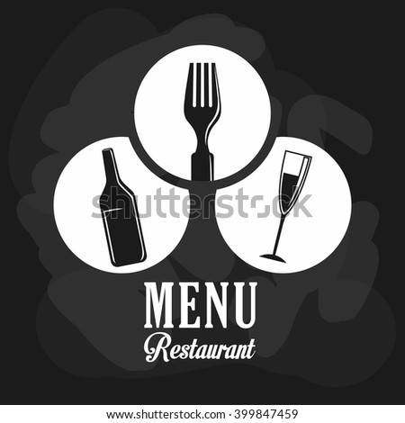 wine and restaurant icon design, vector illustration