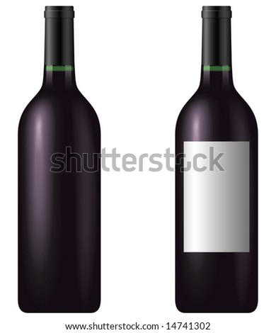 Wine bottle - blend and gradient only