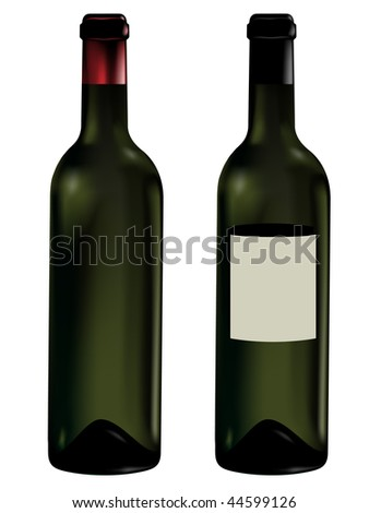 wine bottles vector illustrated
