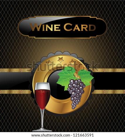 Wine card - stock vector