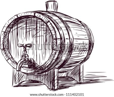 wine cask - stock vector