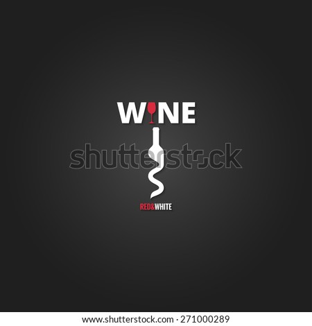 wine cellar bottle concept design background - stock vector