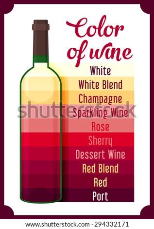 Wine colour. Vector - stock vector