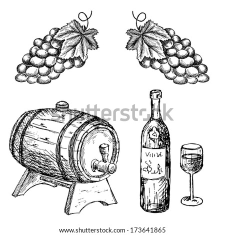 wine company - stock vector