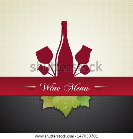Wine cover menu background  - stock vector