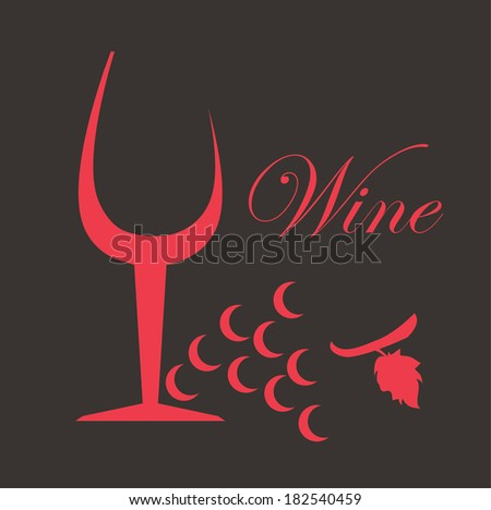 Wine design over dark background, vector illustration