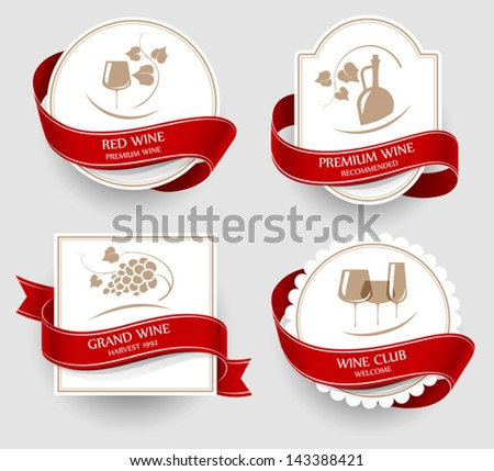 Wine emblems - stock vector