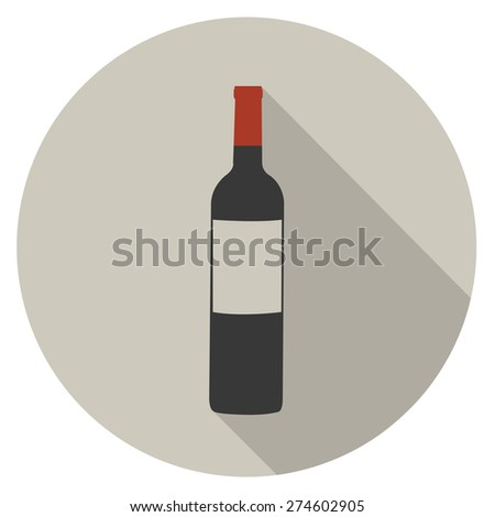 wine flat icon. vector illustration - stock vector