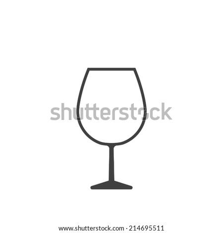 wine glass icon - stock vector