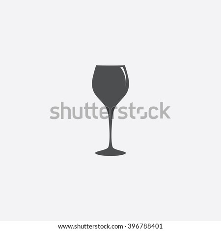 Wine glass Icon Vector.  - stock vector