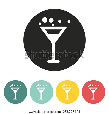 wine glass Icon.vector illustration. - stock vector