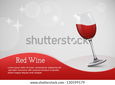 wine glass on grey background eps10 illustration - stock vector